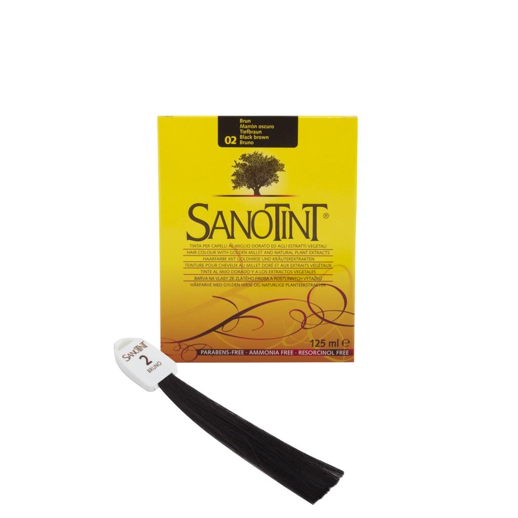 Краска для волос СаноТинт-Чёрно-коричневый №02